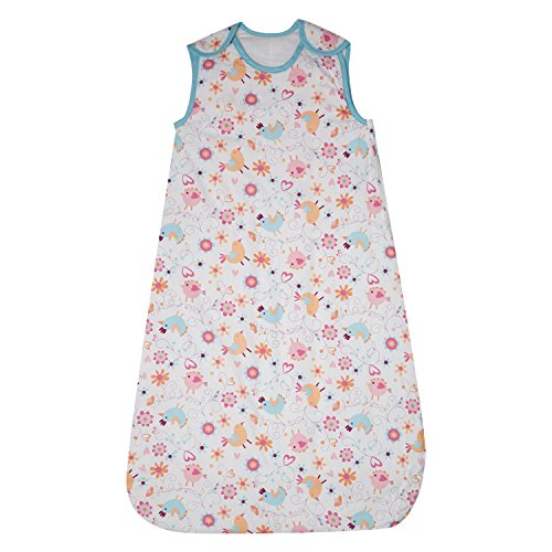 Baby Girls Grobag White Print Baby Sleep Bag Junior