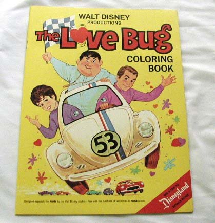 Herbie The Love Bug Coloring Book