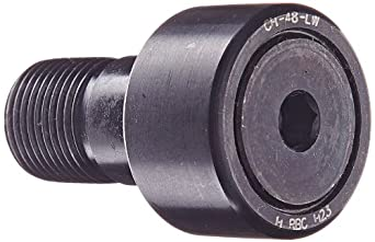 "RBC Cam Follower CH48LW 1.500"" Outside Diameter, Heavy Duty Stud Type, Hex Head, Sealed, Crowned Outer Ring Cam Follower"