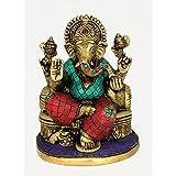 Redbag Lord Ganpati Brass Figure (19.69 Cm, 15.24 Cm, 12.07 Cm)