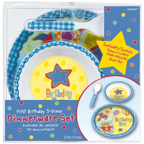 Hugs and Stitches Boy's Dish Set - 1