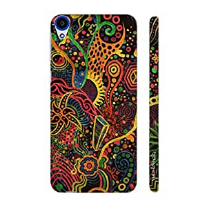 Enthopia Designer Hardshell Case RAINBOW CORAL Back Cover for HTC Desire 820