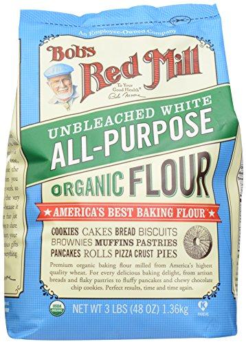 Bob's Red Mill Organic Unbleached White Flour, 48 oz (Organic White Bread Flour compare prices)