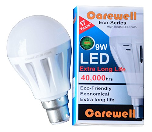 Carewell Eco Series 9W LED Bulb (Cool Day Light)