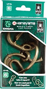 BePuzzled Hanayama Cast Metal Brainteaser Puzzles - Hanayama Enigma Puzzle (Level 6)