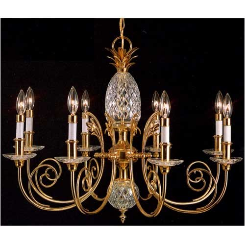 Quoizel Brass And Crystal Large Pineapple Chandelier - $500.00