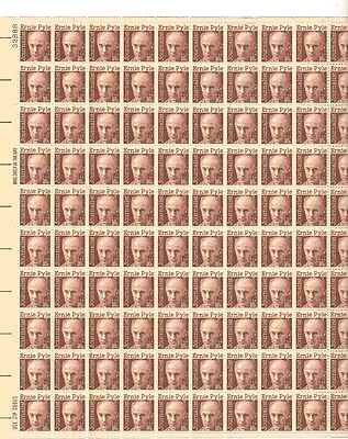 Journalist Ernie Pyle Sheet of 100 x 16 Cent US Postage Stamps NEW Scot 1398