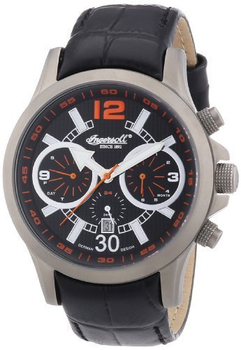 Ingersoll Men's Automatic Watch Clark IN1624TBK with Leather Strap