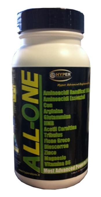 4 Flasche mit 200 Tabletten 260 gr Nahrungsergänzungsmittel, um die Erholung der Muskeln mit zu unterstutzen: BCAA , Essentielle Aminosäuren (Phenylalanin, Isoleucin, Leucin, Methionin, Threonin, Tryptophan, Valin), Glutamin , Arginin , HMB, Ace