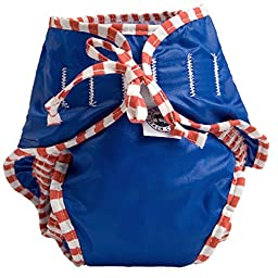 Kushies Reusable Swim Diaper, Medium, Nautical Blue