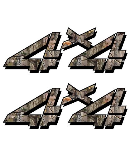 4x4 sticker set for Chevy, GMC, Sierra, Silverado Truck timber camouflage hunting camo decal (Camo Truck Accessories Gmc compare prices)