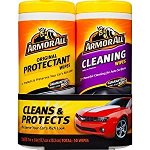 Armor All Twin Pack Wipes, These car cleaning wipes are lint free and will not leave greasy residue on hands