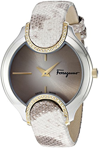 Salvatore-Ferragamo-Womens-Signature-Quartz-Stainless-Steel-and-Leather-Casual-Watch-ColorBeige-Model-FIZ060015