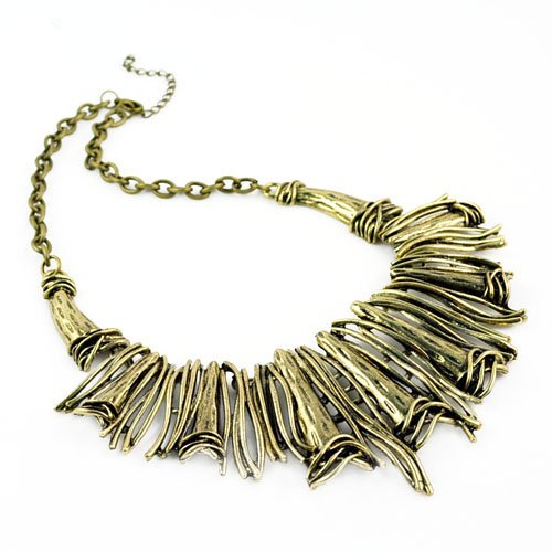 Individuality Chunky Alloy Choker Necklace, Gold/silver Oversized Pendant Necklace, Nl-1705 (B)