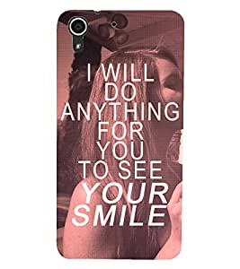 HTC DESIRE 728 QUOTE Back Cover by PRINTSWAG