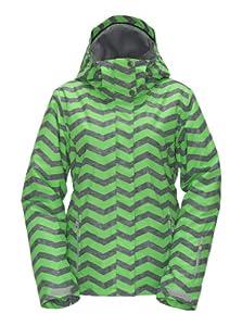 Roxy Women's Jetty Snow Jackets - Green, X-Small (Old Version)