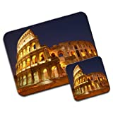 Roman Colosseum in Rome Italy Premium Mousematt & Coaster Set