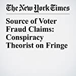 Source of Voter Fraud Claims: Conspiracy Theorist on Fringe   Jonathan Martin