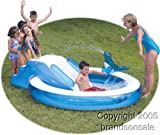 Inflatable drinking water Slides:Toddler blow up Blow Up kids Pool W/ Slide