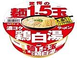 エースコック 驚愕の麺1.5玉 濃コク鶏白湯ラーメン 123g×12個