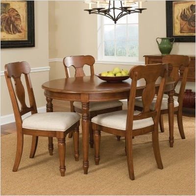 Dining room sets 7 pc homestead dining table with leaf for Cheap dining room sets for 6