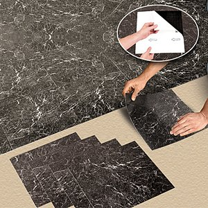 Buy Nexus Vinyl Tile N409 Black Marble Self Adhesive Vinyl Floor Tiles: 1  Box   20 Pieces Now Part 42