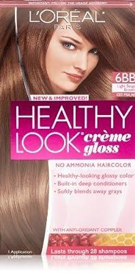 3 Pk, L'Oreal Paris Healthy Look Creme Gloss, Light Beige Brown / Iced Praline #6BB