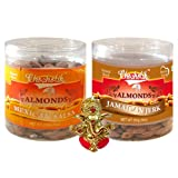 Chocholik Dry Fruits - Almonds Mexican Salsa & Jamaican Jerk With Ganesha Idol - Diwali Gifts - 2 Combo Pack