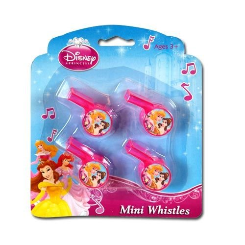 Disney Princess 4pk Mini Whistle - 1