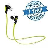 #10: Captcha Captcha Professional Bluetooth 4.1 Wireless Stereo Sport Headphones Headset Running Jogger Hiking Exercise Hi-Fi Sound Hands-Free Calling
