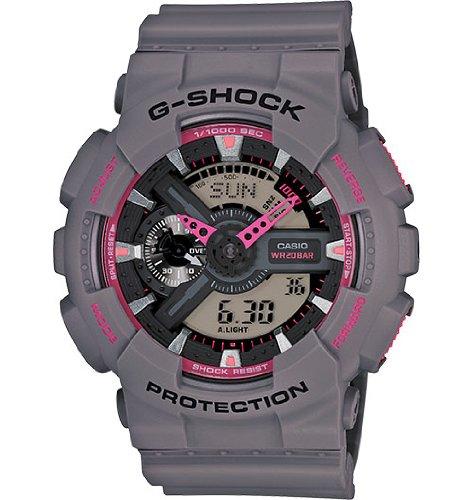 Casio G-Shock Analog-Digital Display Grey Resin Mens Watch GA110TS-8A4CR