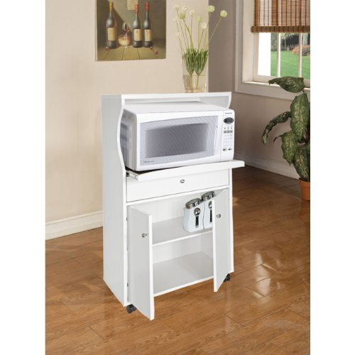 Home Source Industries TIF 10108 Microwave Stand, White