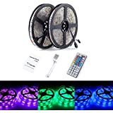 ALED LIGHT® 10M (2 x 5m) RGB SMD 5050 150 LED LED Strip Color Changing Waterproof IP65 Led Strips with 44 key IR Remote for Home, Garden, Boat, Club, Bar, KTV Club, Show Room, Architectural Decorative Lighting