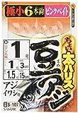 ささめ針(SASAME) ちょい太豆アジ ピンクベイト S-107 針0.5号 ハリス0.8号