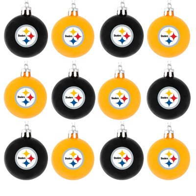 NFL Ball Ornament (Set of 12) NFL Team: Pittsburgh Steelers