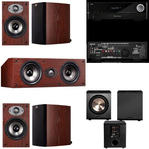 Polk Audio Tsx110 5.1 Home Theater System (Cherry)- Harman Kardon Avr 1710 7.2