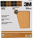 3M Pro-Pak Garnet Sanding Sheets, 150A-Grit, 9-Inch by 11-Inch