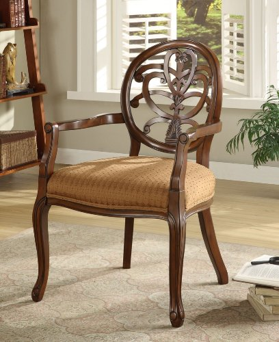 Brown Scroll Back Accent Chair - Powell Furniture - 725-620