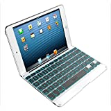 ZAGG Cover Case with Backlit Bluetooth Keyboard for Apple iPad mini1 and iPad mini 2 -White