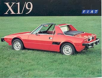 Amazon.com: 1975 Fiat X1/9 Sales Brochure: Entertainment