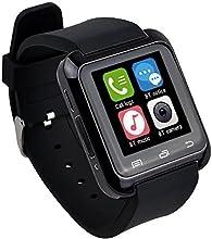 EasySMX Bluetooth 4.0 Multi-idiomas Reloj Inteligente Smartwatch con la Pantalla Táctil Compatible con Android Smartphones como Samsung, HTC, Sony, Huawei (Negro)