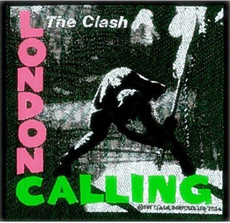 The Clash - Toppa da cucire, motivo: The Clash London Calling, 100 x 95 mm