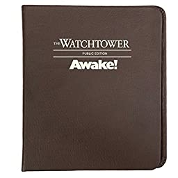 Watchtower and Awake binder - Watchtower and Awake! Public Edition - Chestnut