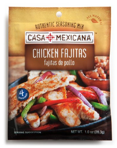 Casa Mexicana Chicken Fajitas Seasoning Mix, 1-Ounce Bags (Pack of 12)