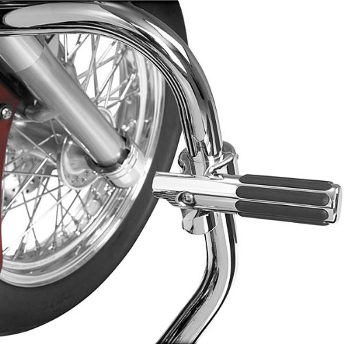 with Pivoting Rail Footpeg for 1 1/4 Inch Highway Bars/Engine Guards