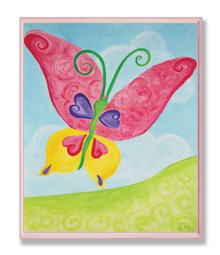 The Kids Room by Stupell Oversized Red and Yellow Butterfly Rectangle Wall Plaque