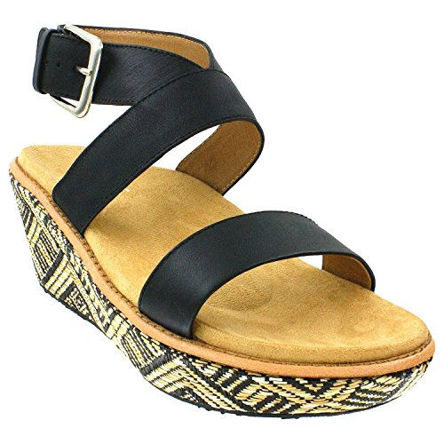 Orthaheel Orthaheel By Vionic Womens Cancun Wedge Sandals (10 B(M) Us, Black)