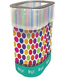 Amazon.com: Polka Dot Flings Bins POP Up Trash Bin - Single Pack: Home & Kitchen