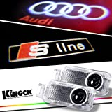 KingCK Audi 1 Min Easy Installation Direct Replacement HD Logo Projector Pack of 2