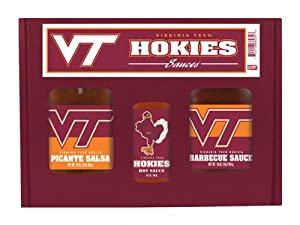 Virginia Tech Hokies Ncaa Tailgate Kit 5oz Hot Sauce 16oz Bbq Sauce 16oz Picante Salsa from Hot Sauce Harrys